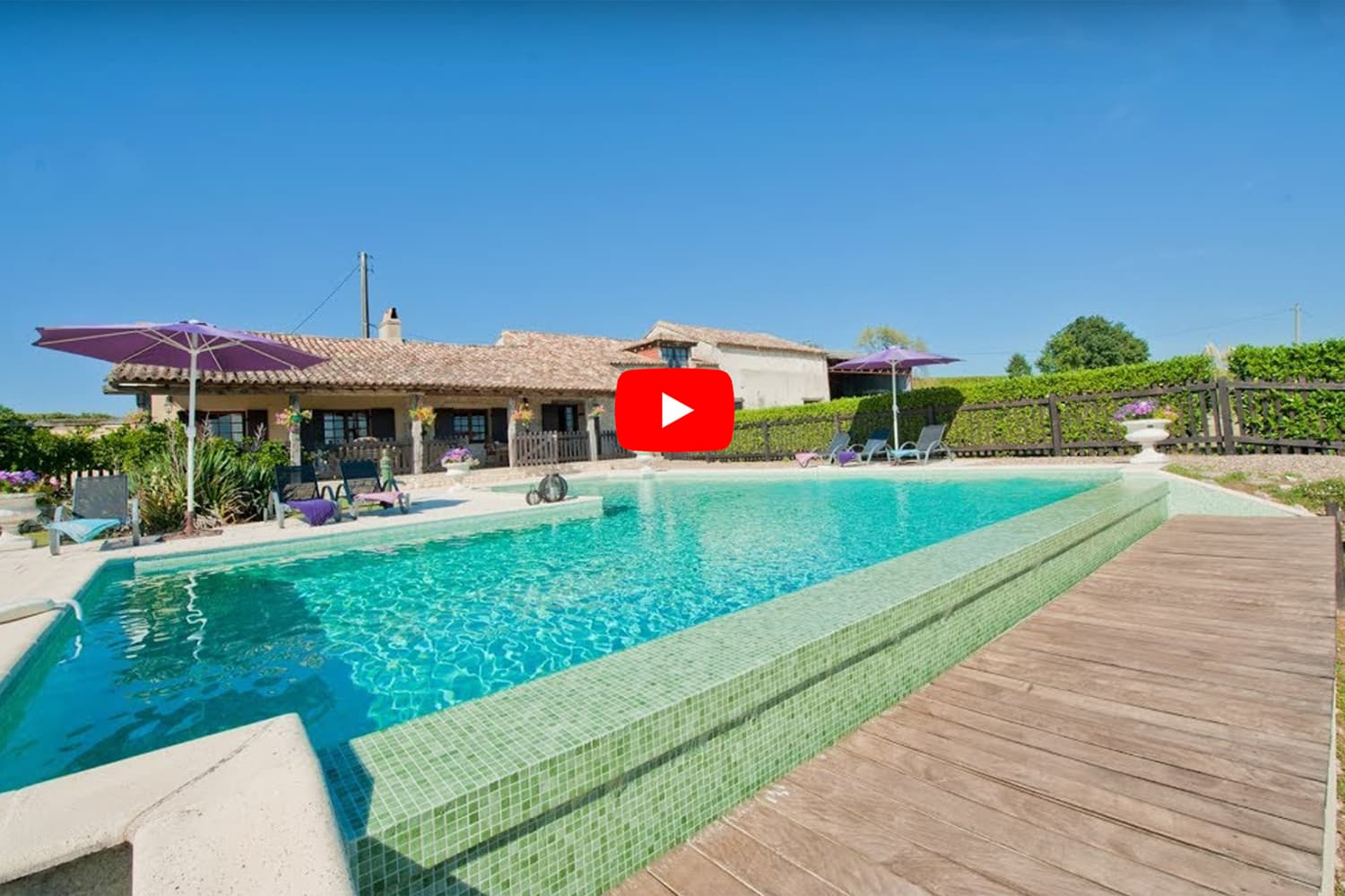 Holiday accommodation video in Saussignac