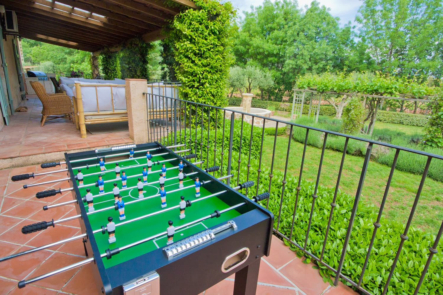 Terrace with table football