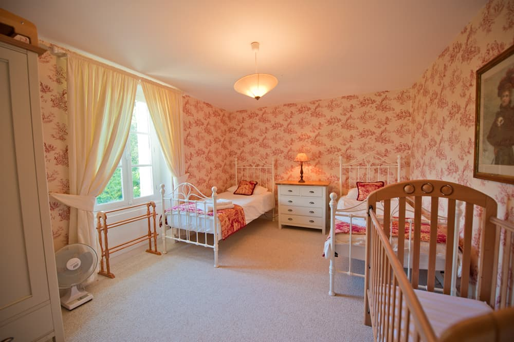 Bedroom in West France rental accommodation