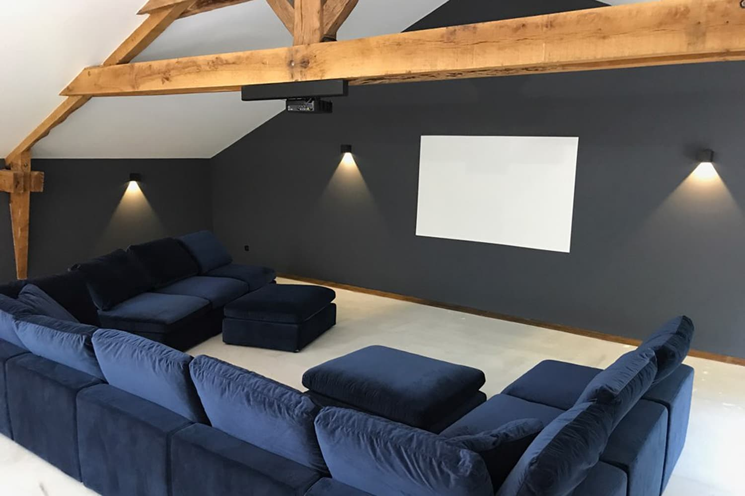 Barn conversion with home cinema