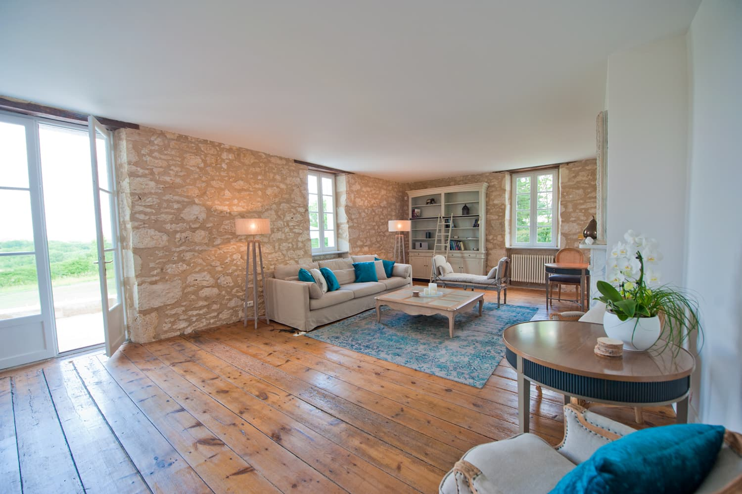 Living room in Dordogne rental home