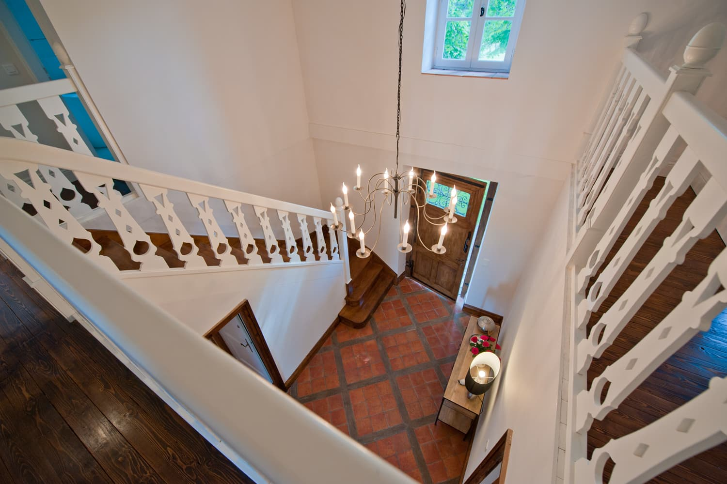 Staircase and entrance in Dordogne rental home
