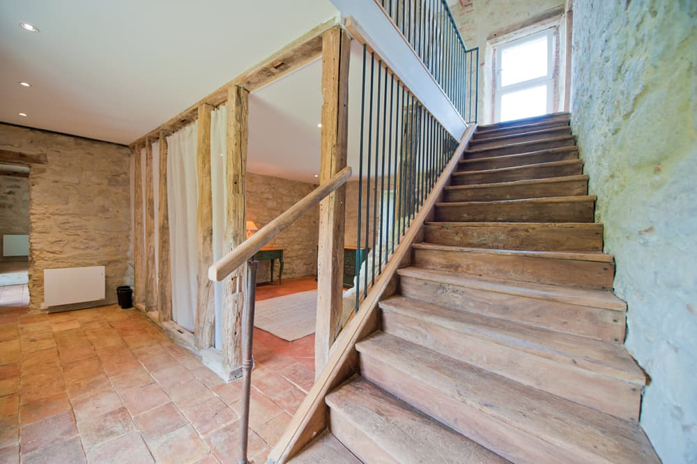 Staircase in West France rental home