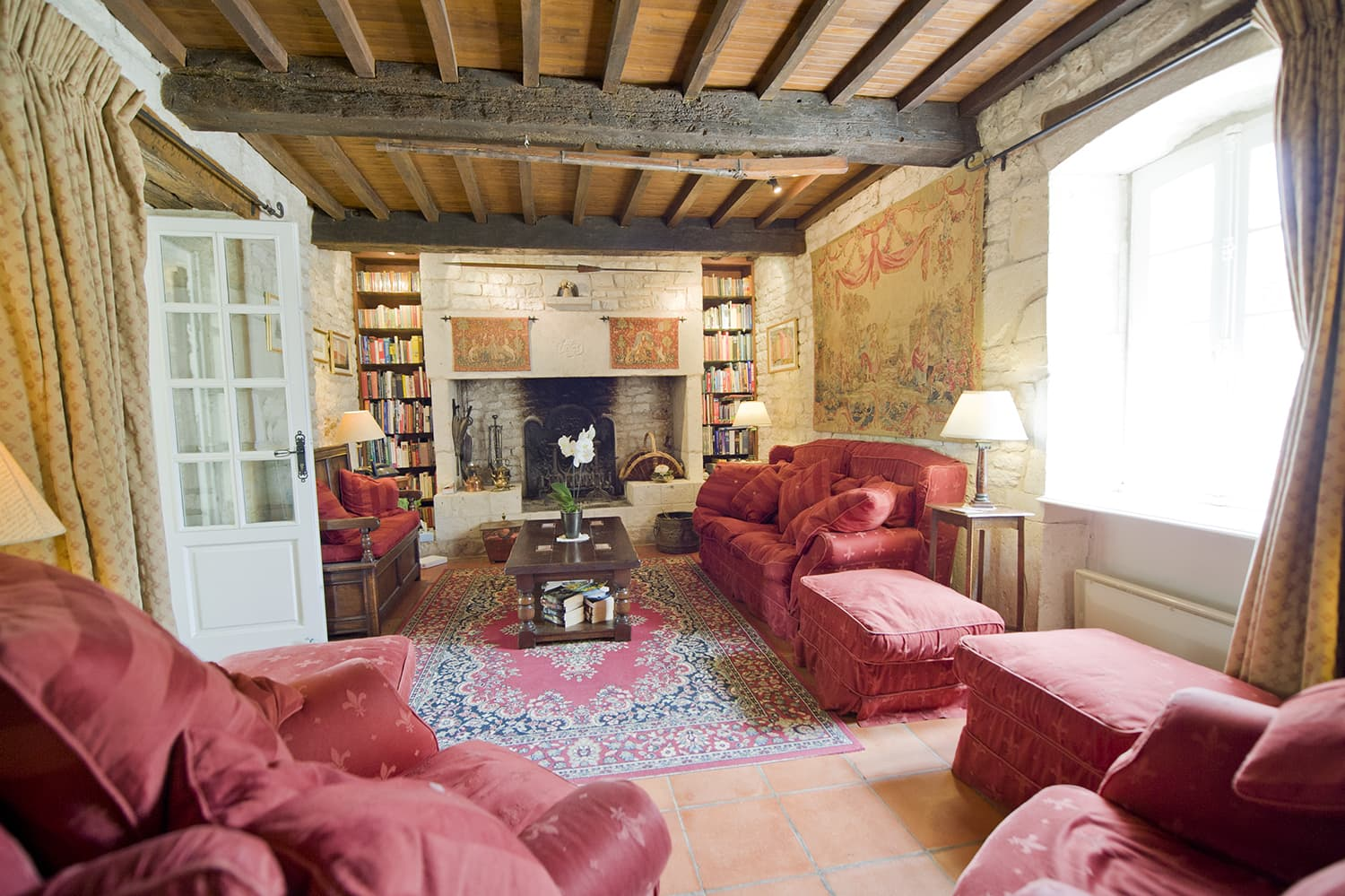 Living room in Dordogne holiday home