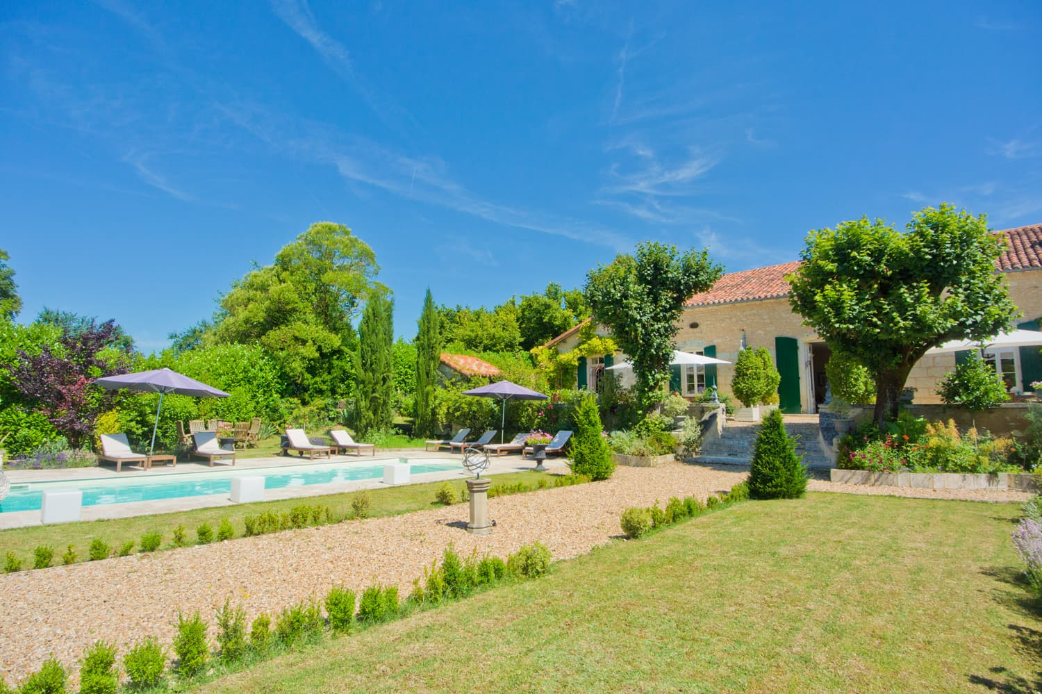 Holiday rental home in Dordogne with private pool