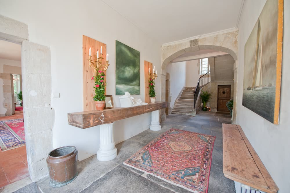Entrance hallway in South West France holiday home