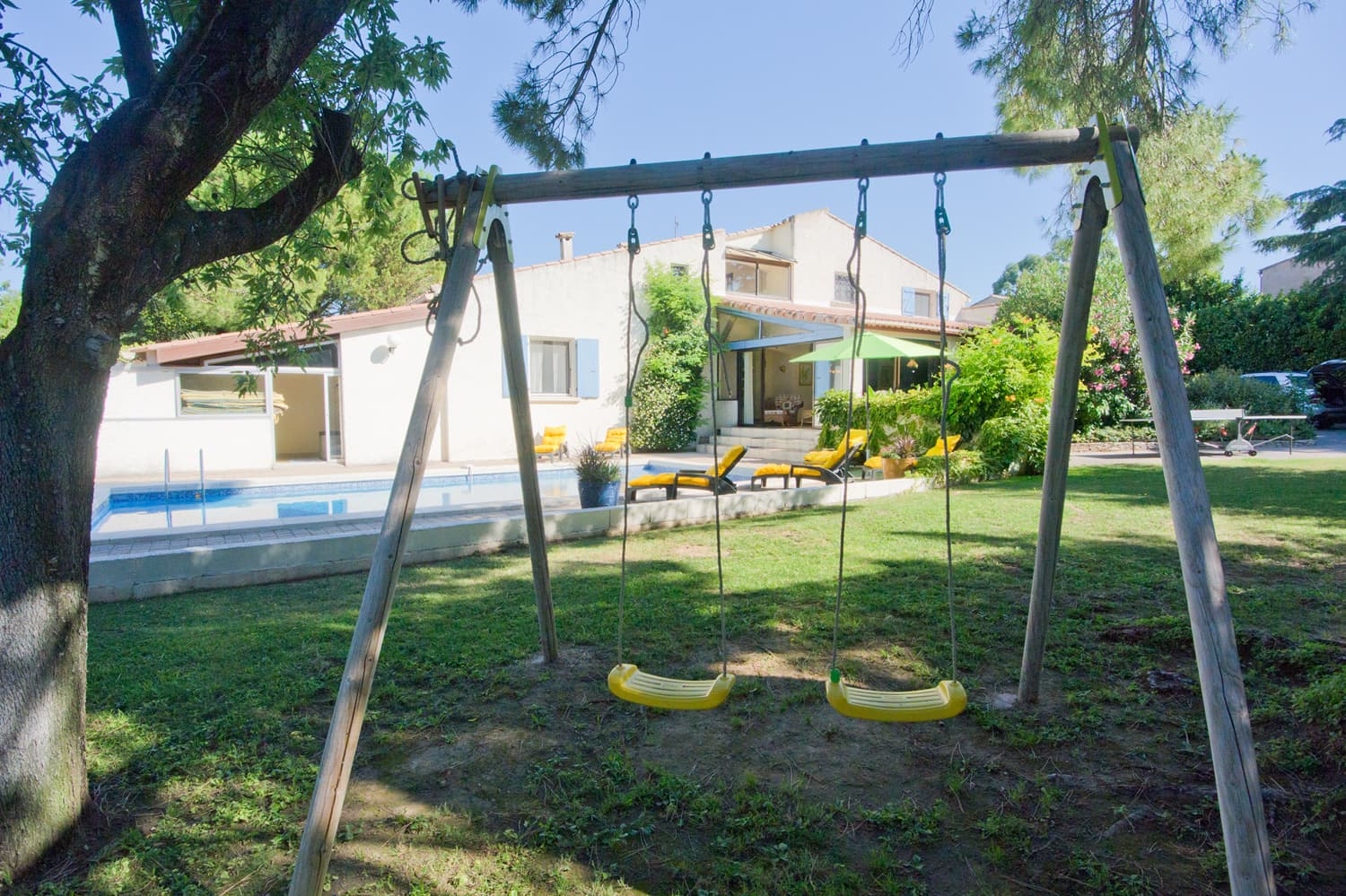 Swings in garden