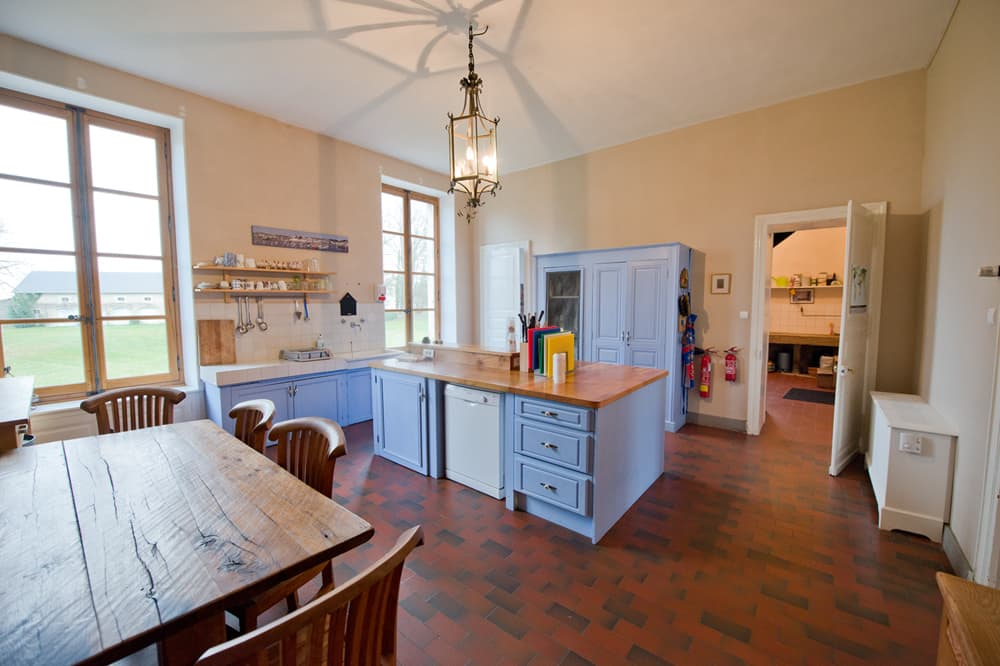 Kitchen in Loire rental château