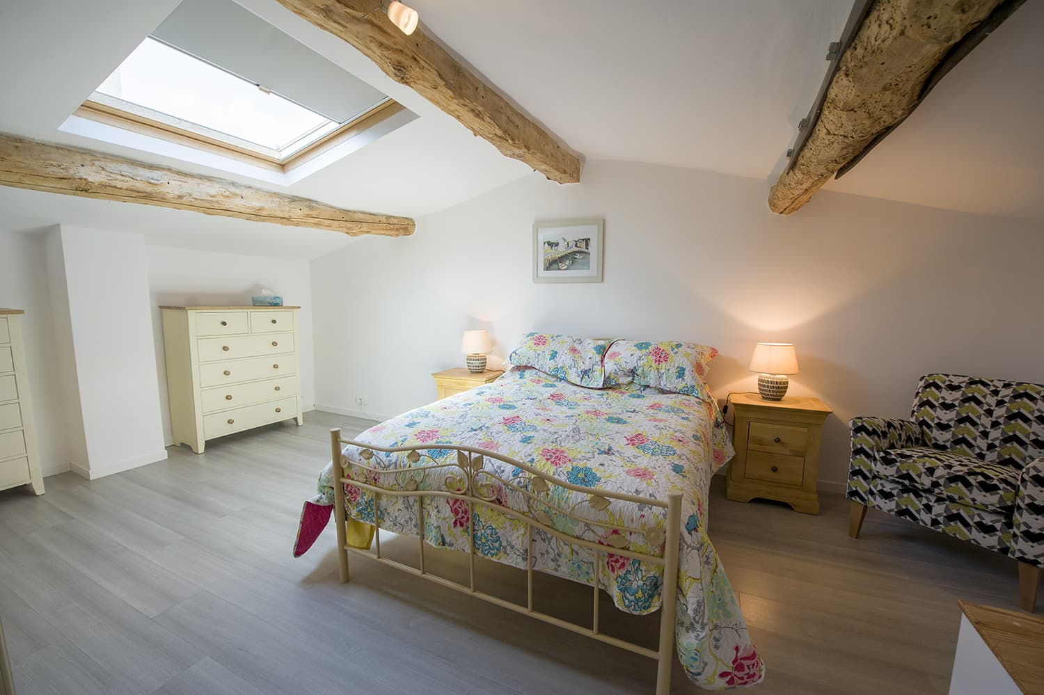 Bedroom in Lauraguel holiday home