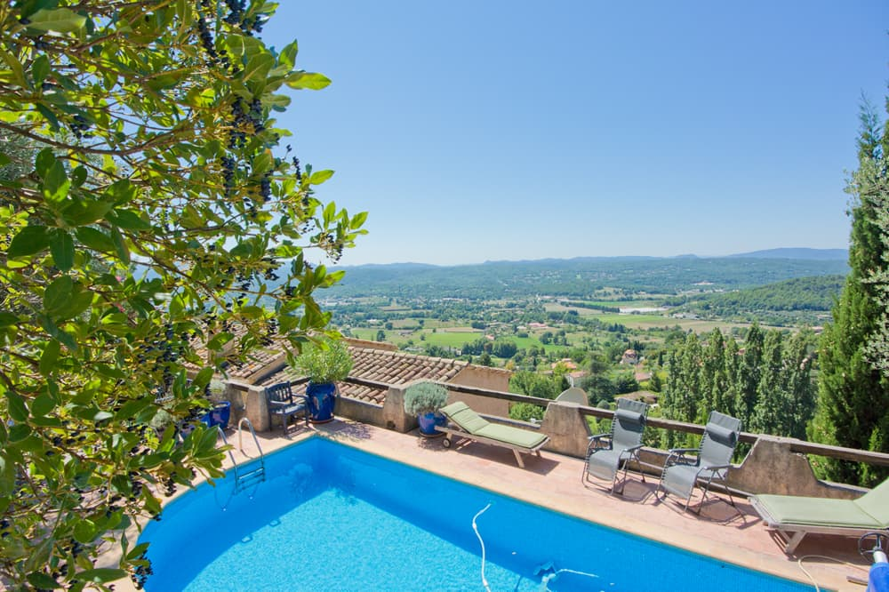 Private pool with terrace and countryside views