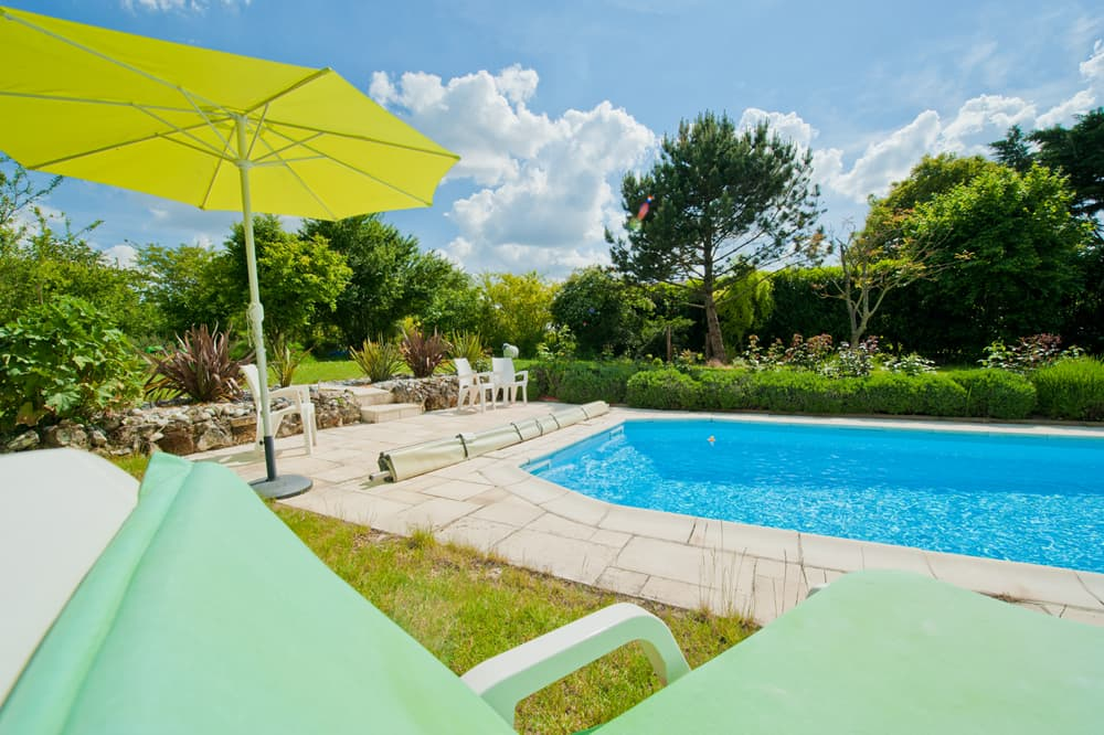 Shared, heated pool with terrace