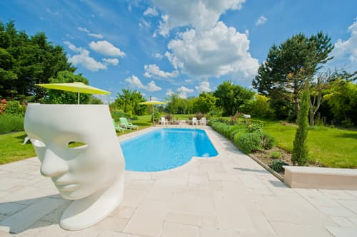 Shared, heated pool in Loire
