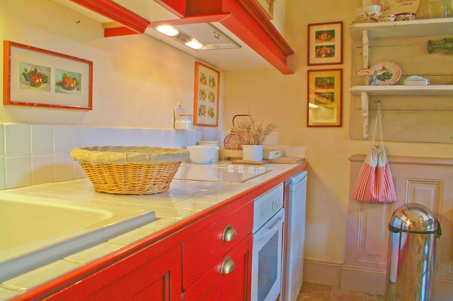 Kitchen in Loire self-catering apartment