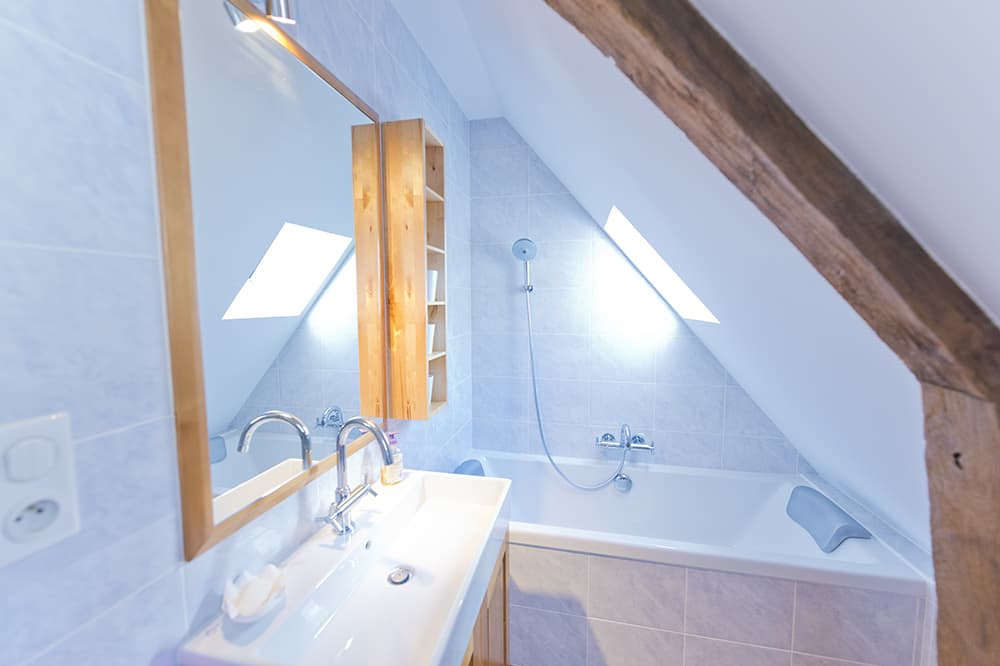 Bathroom in Loire rental home