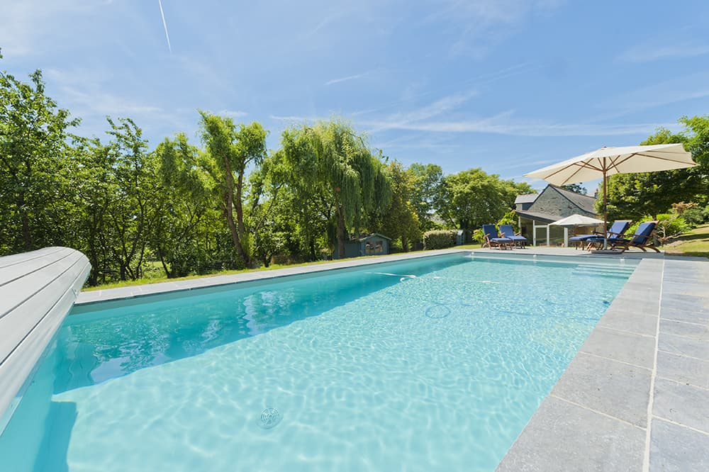 Private, heated pool with terrace near Moisdon-la-Rivière, Pays de la Loire