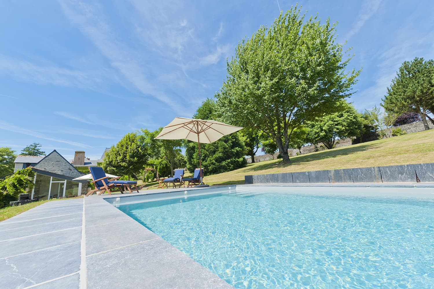 Private, heated pool near Moisdon-la-Rivière, Pays de la Loire