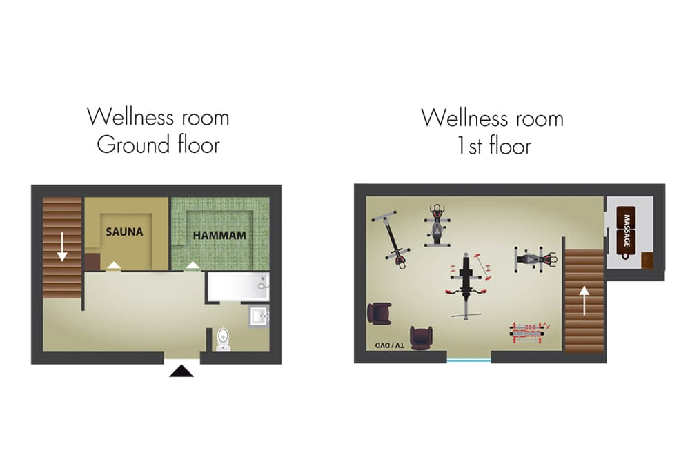 Château Chalons fitness rooms floor plans
