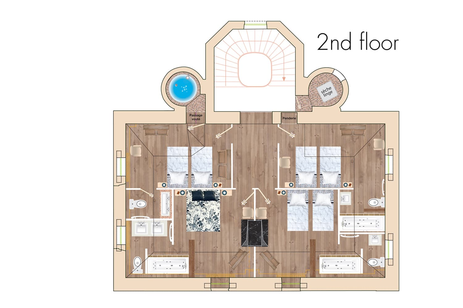 Château Chalons 2nd floor plans