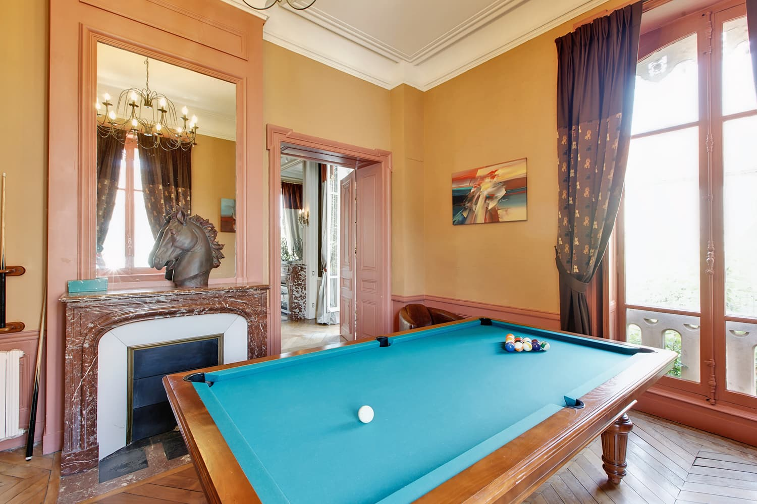 Pool room in Burgundy holiday château