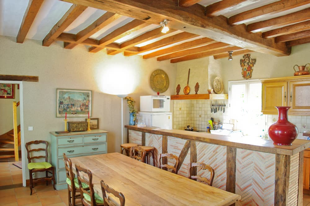 Kitchen in Loire holiday home
