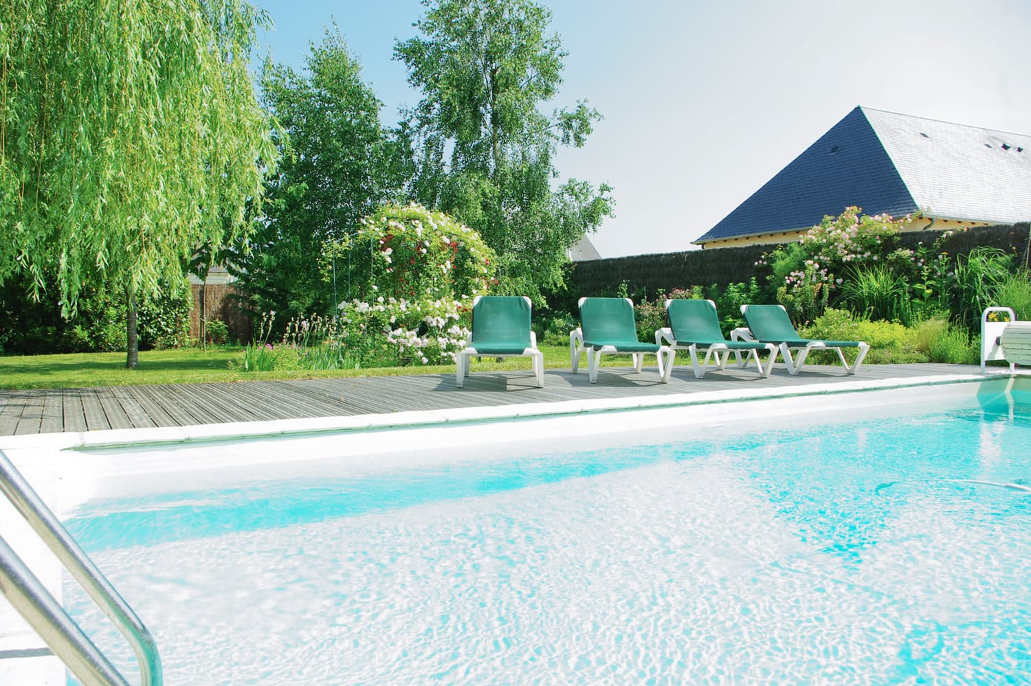 Private, heated pool in Maine-et-Loire, Pays de la Loire