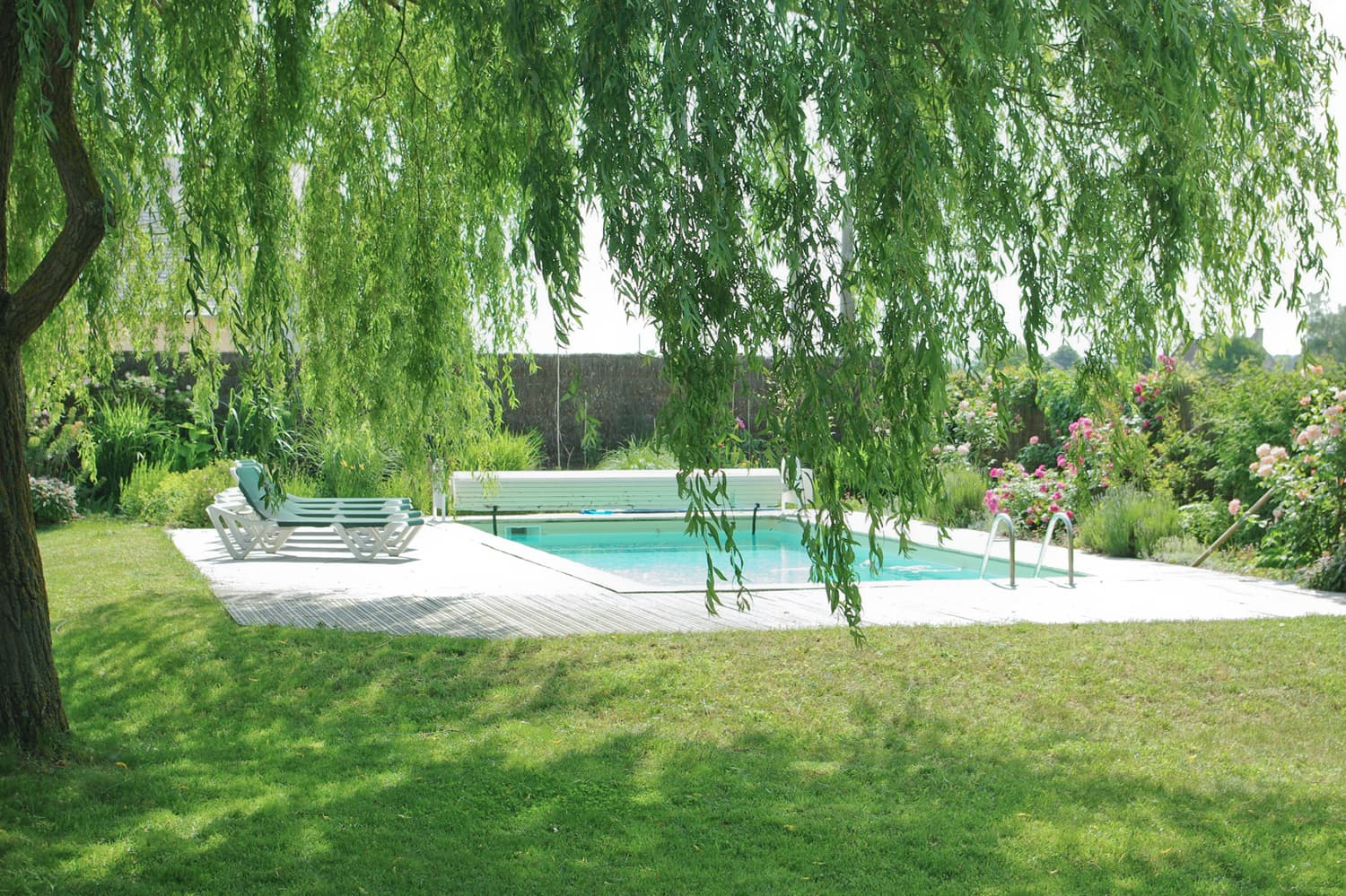 Private, heated pool with garden near Bourgueil, Centre-Val de Loire