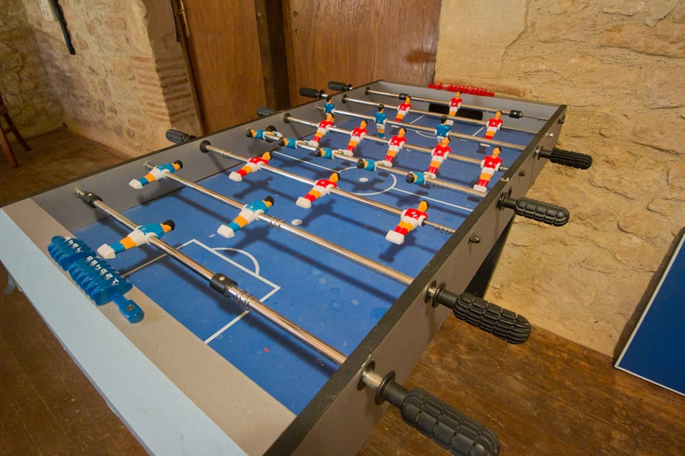 Table football in games room