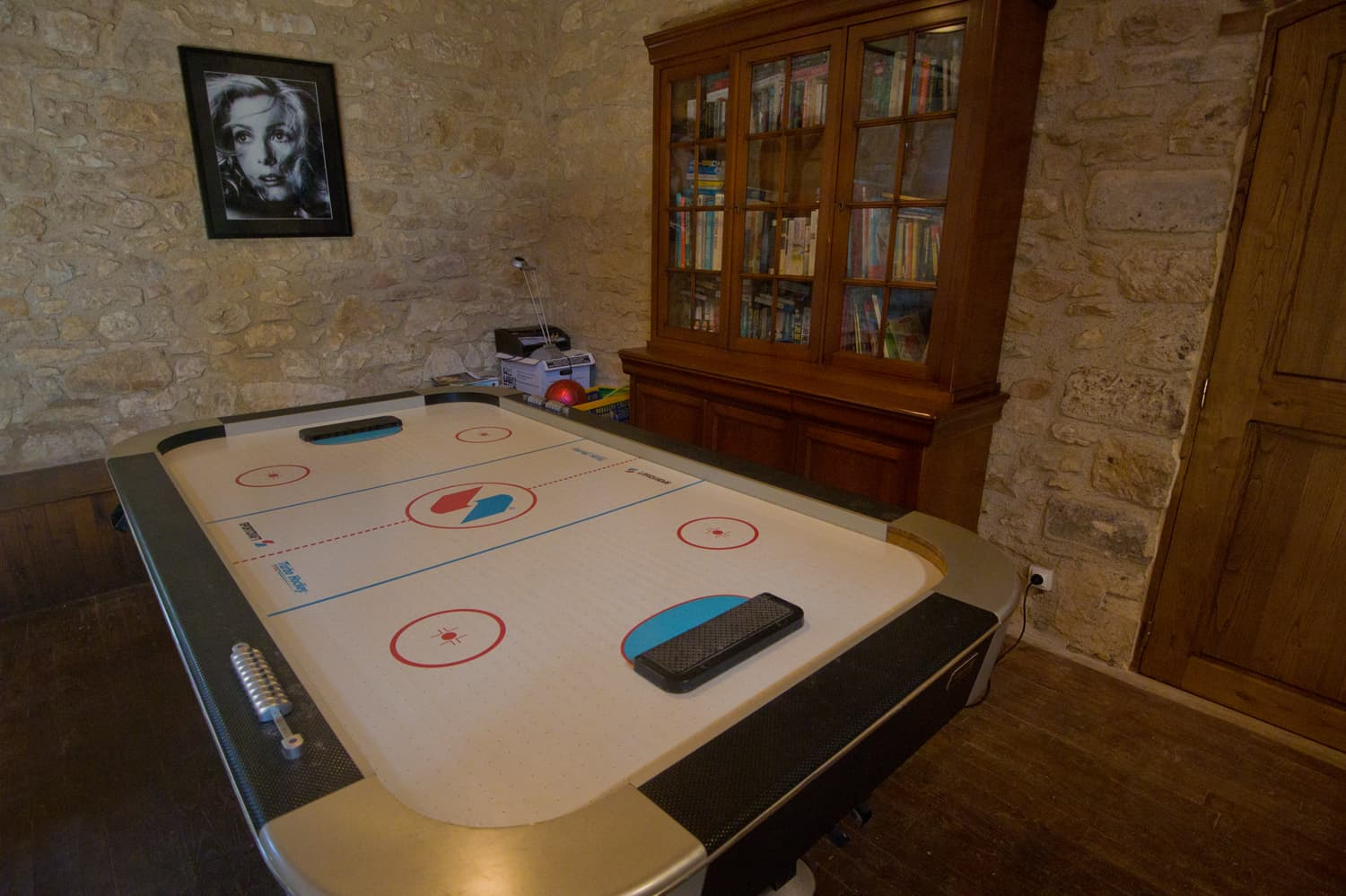 Air-hockey in games room