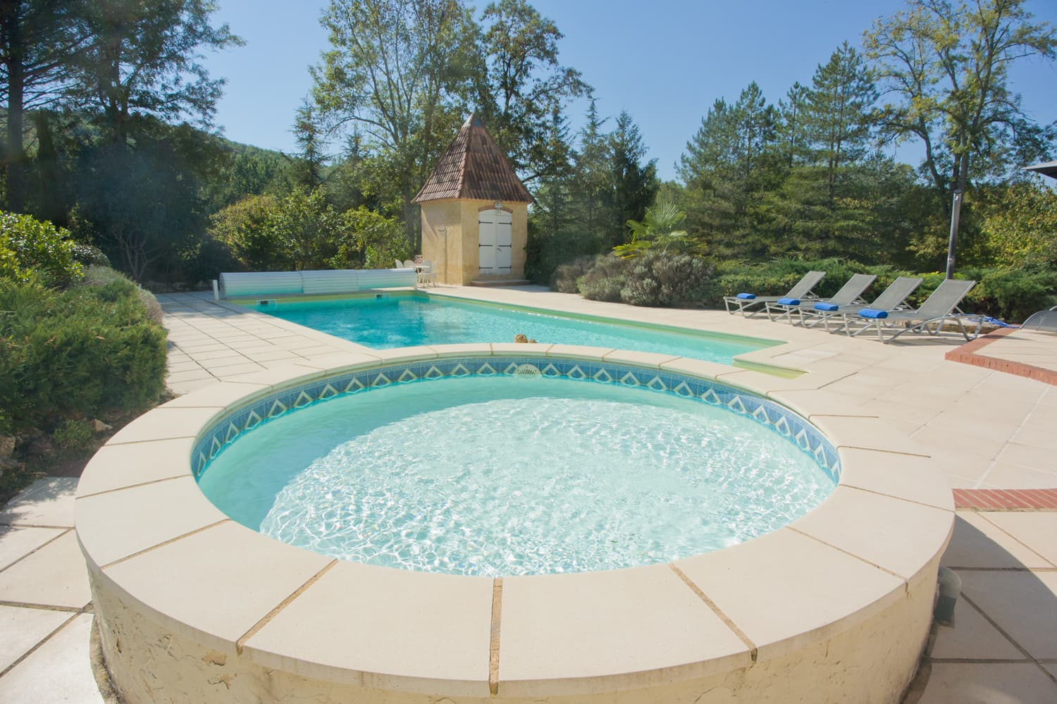 Private, heated pool with children's pool