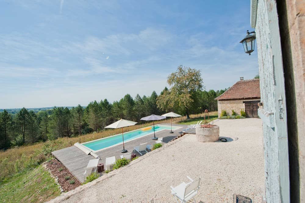 Terrace and private, heated pool