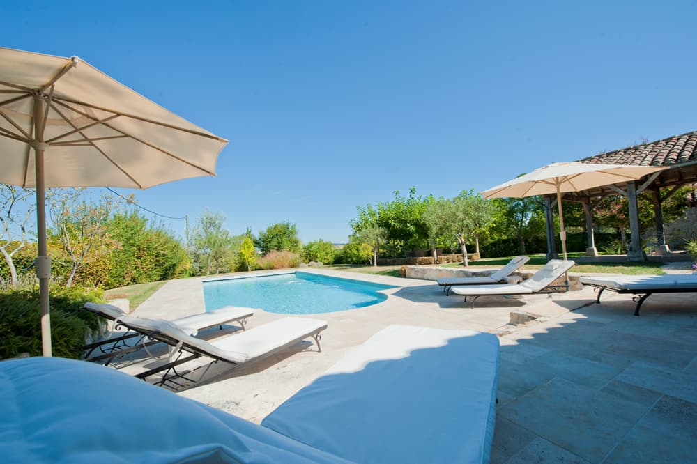 Private pool with terrace