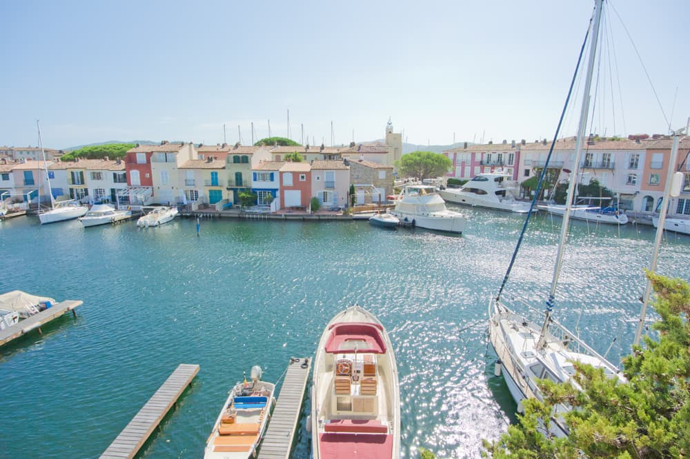 Marina in Port Grimaud, private boats for hire