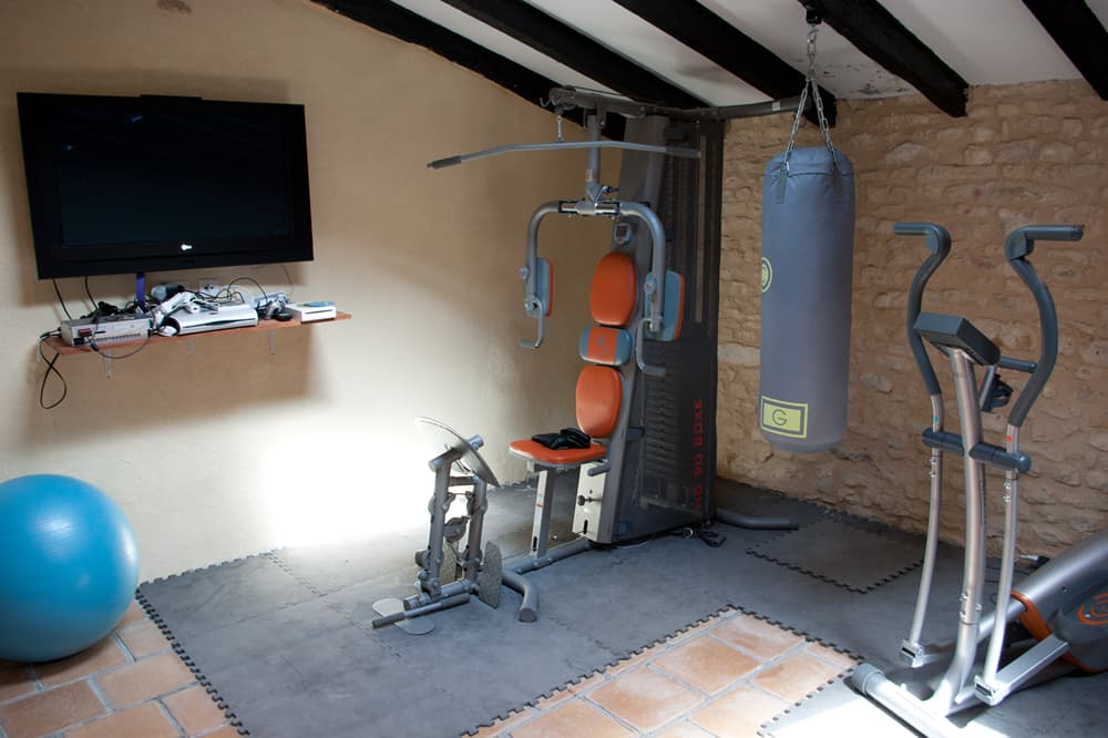 Gym in South West France holiday property