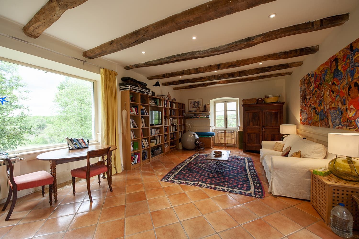 Living room in Crégols holiday home, Occitanie