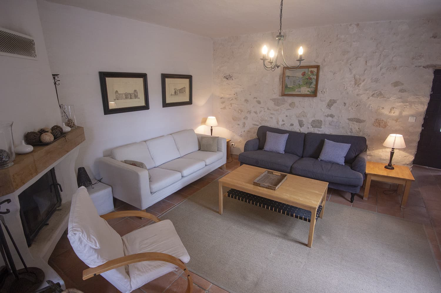 Living room in Occitanie holiday home