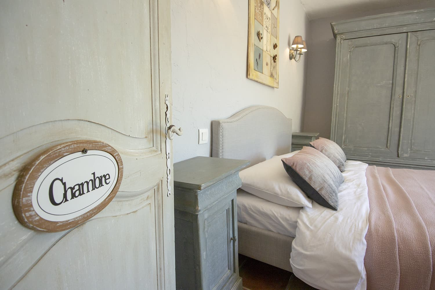 Bedroom in Tourrettes-sur-Loup holiday home
