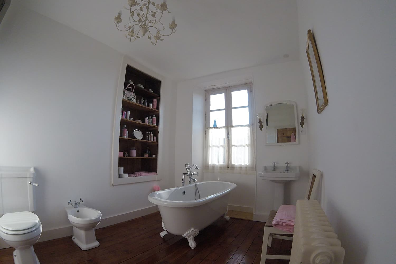 Bathroom in Gournay-Loizé vacation home