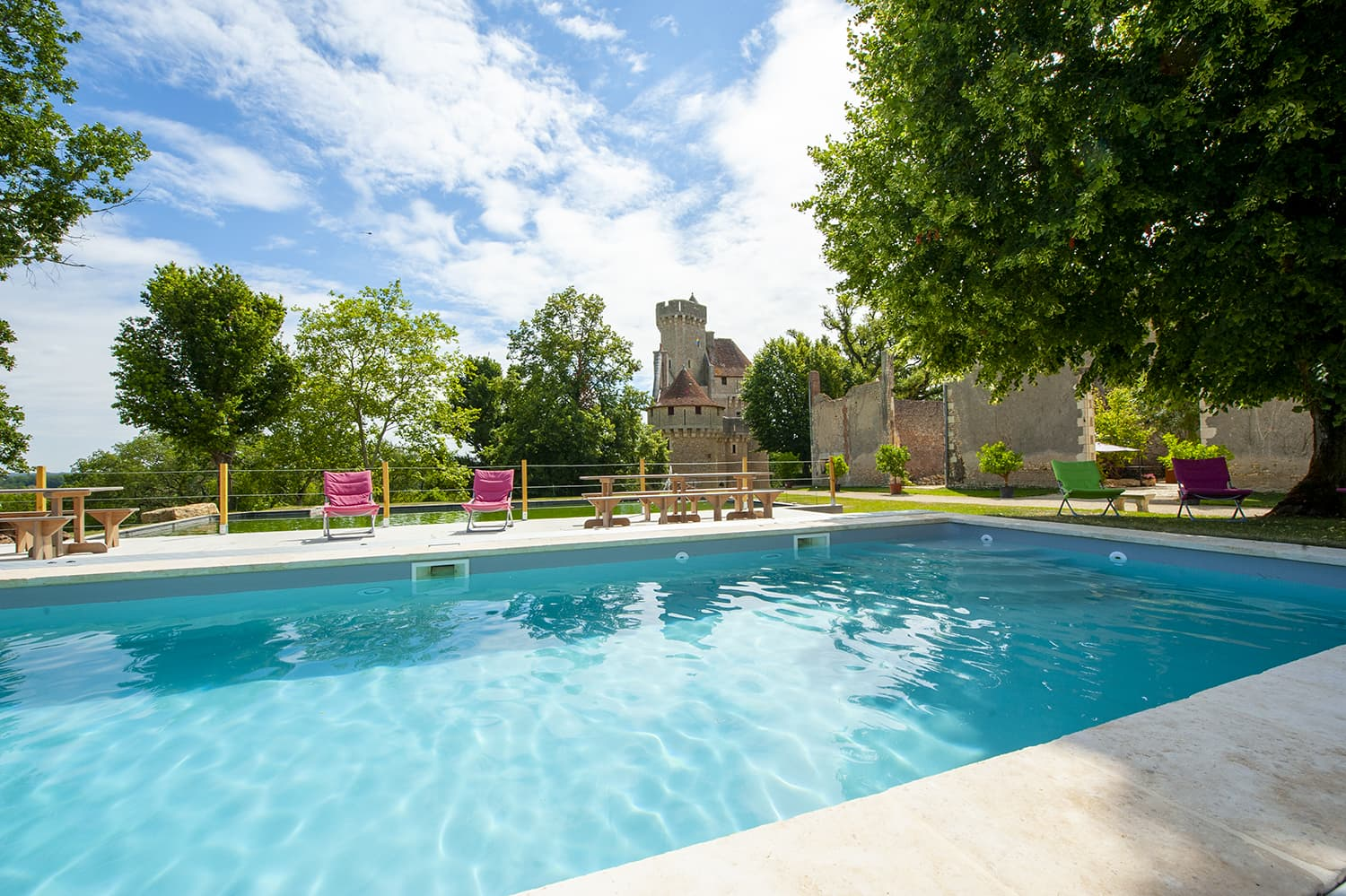 Vacation château in Centre-Val de Loire with private, heated pool