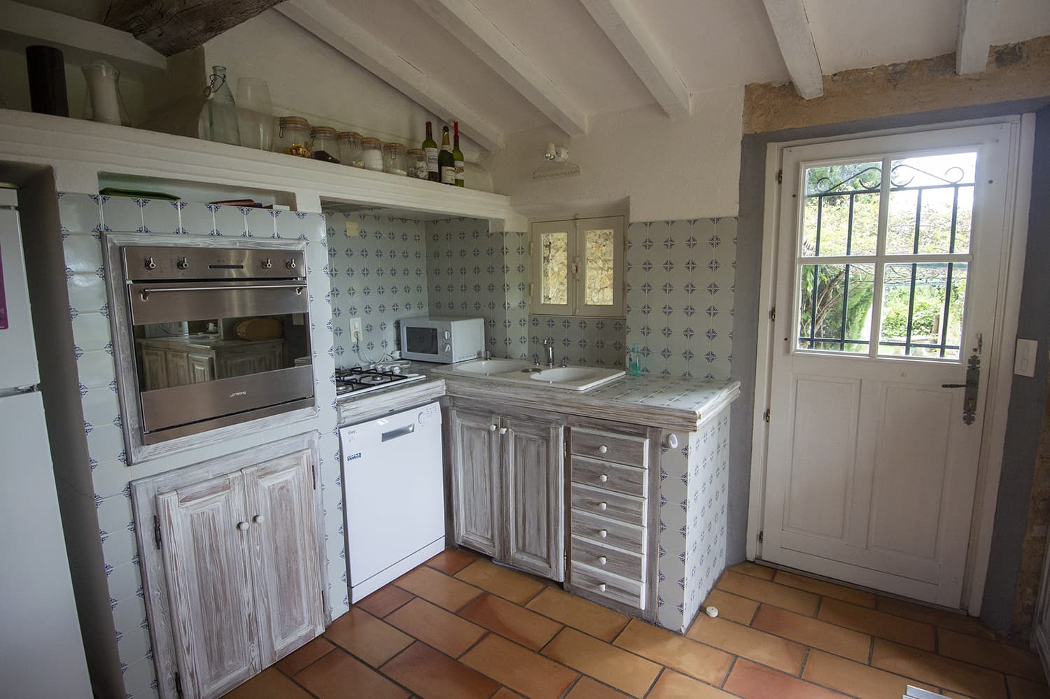 Kitchen in Seillans holiday home