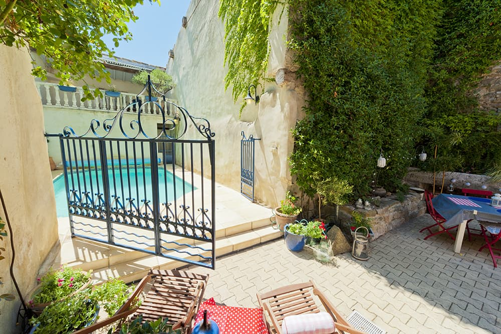 Courtyard with private pool