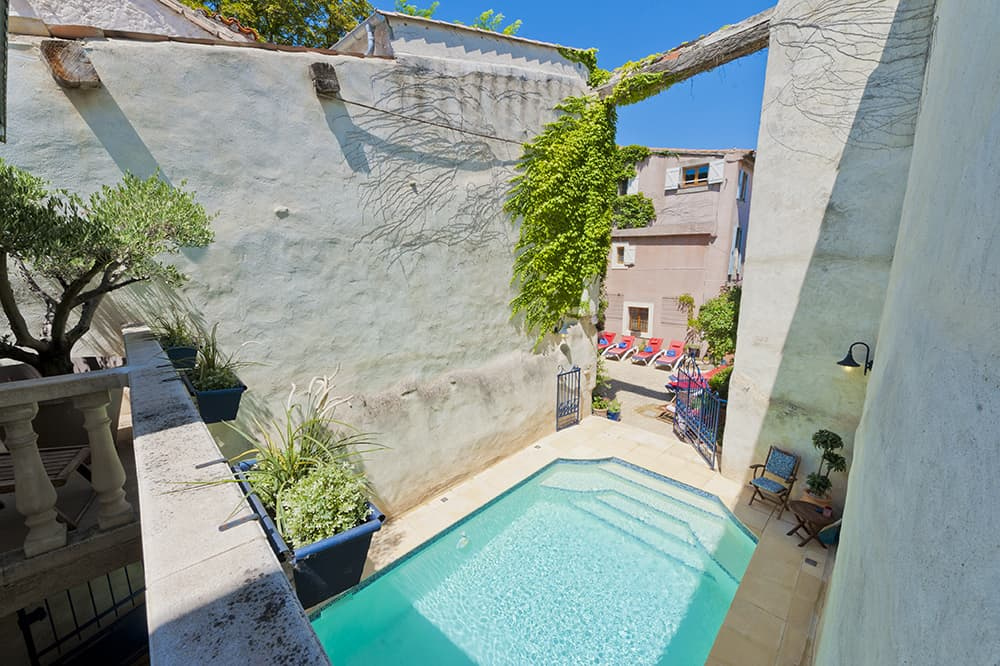 Private pool and courtyard