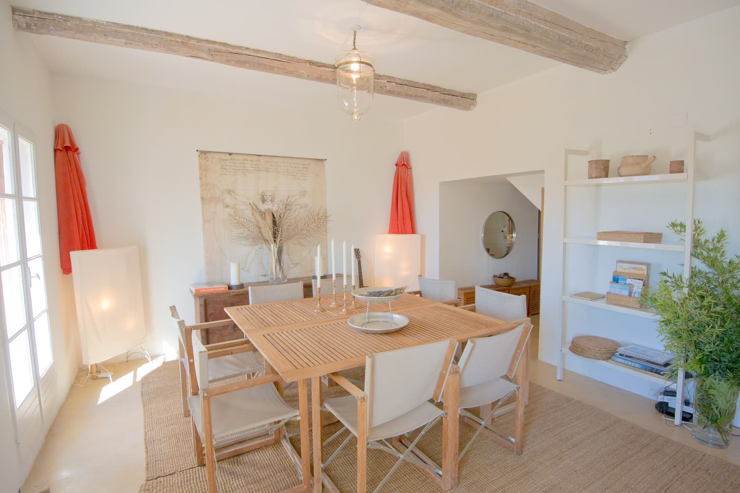 Dining room in Languedoc holiday home