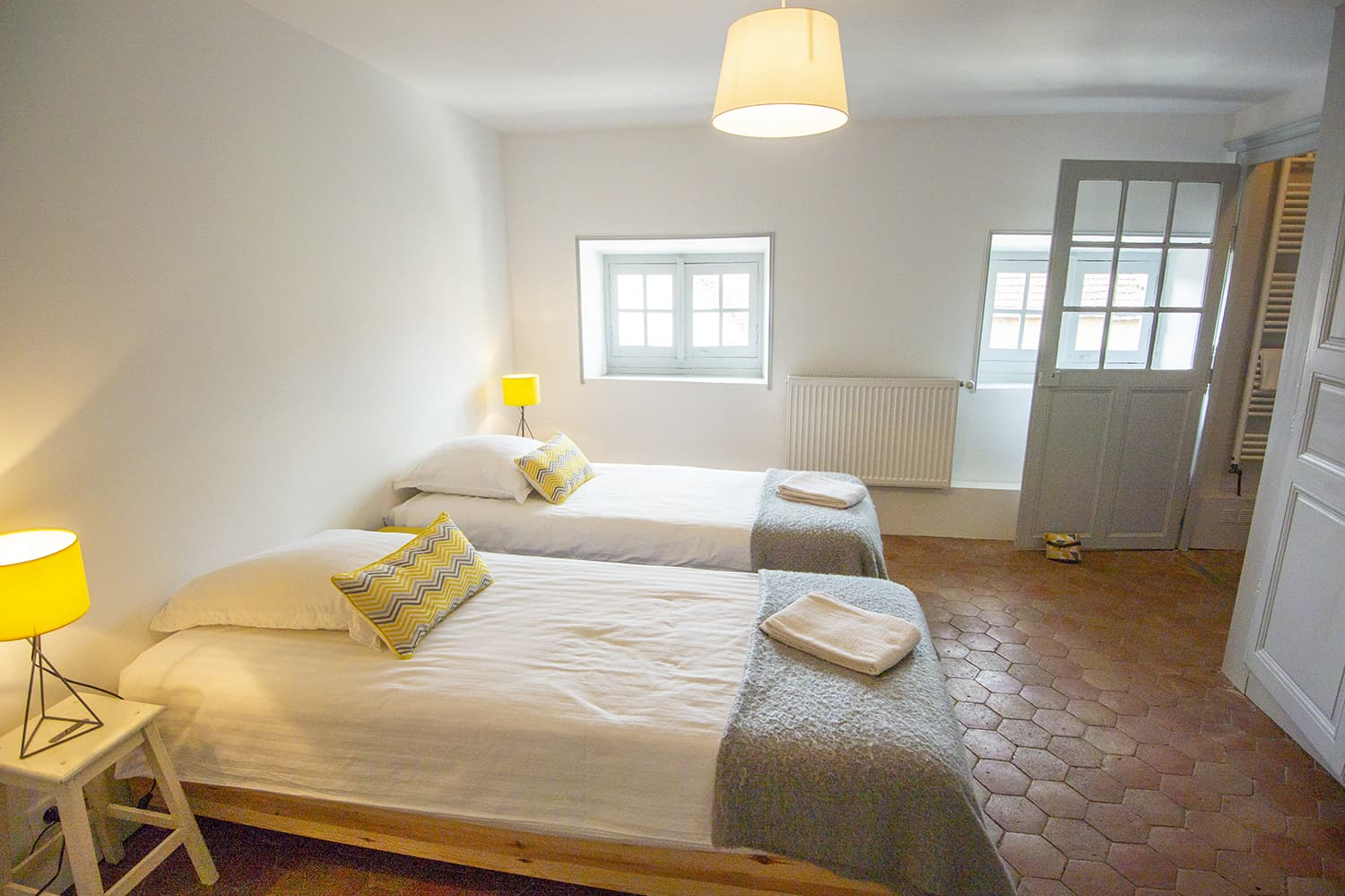Bedroom in Bourgogne-Franche-Comté self-catering accommodation