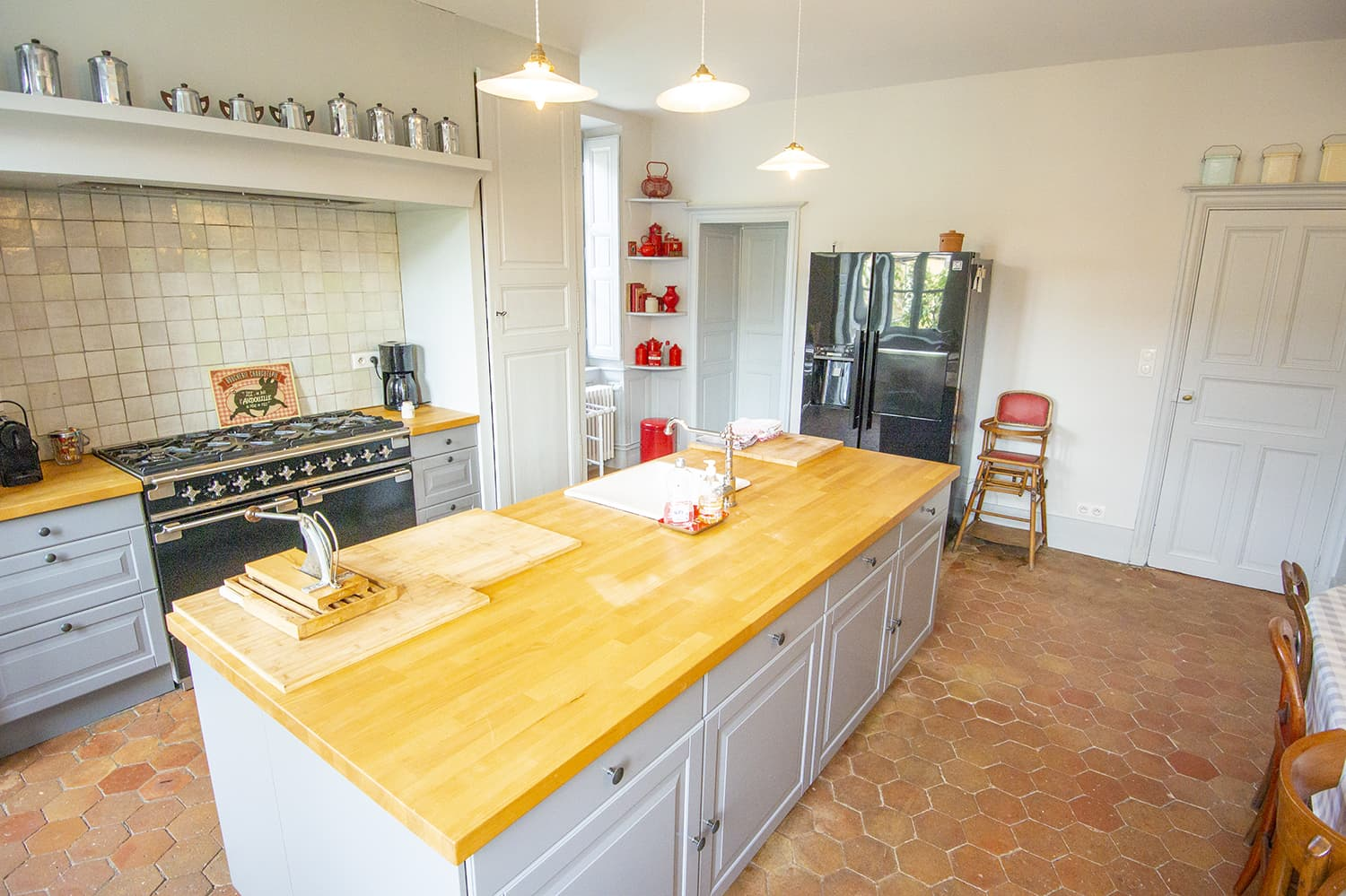 Kitchen in Bourgogne-Franche-Comté self-catering accommodation