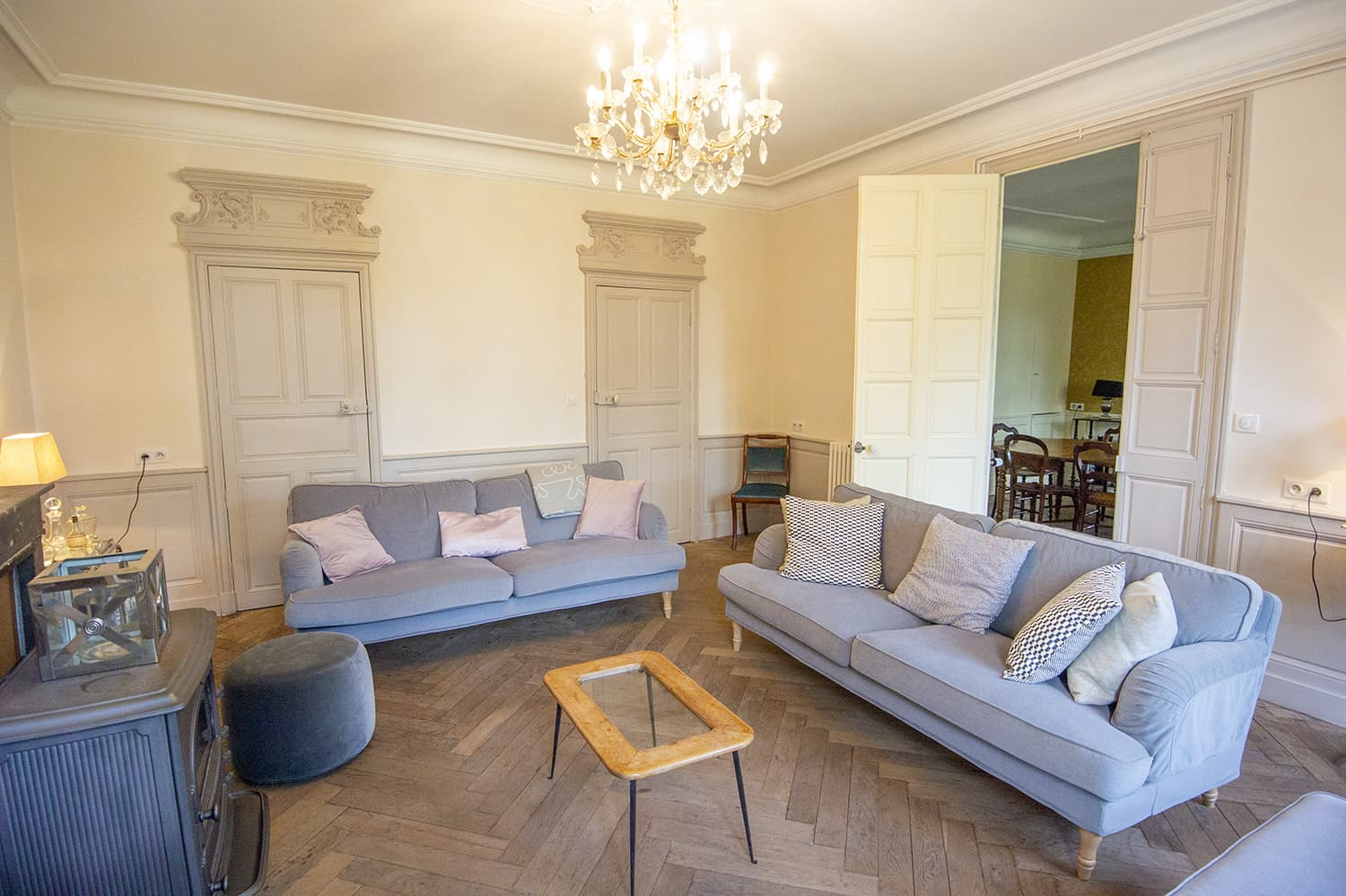 Living room in Bourgogne-Franche-Comté self-catering accommodation