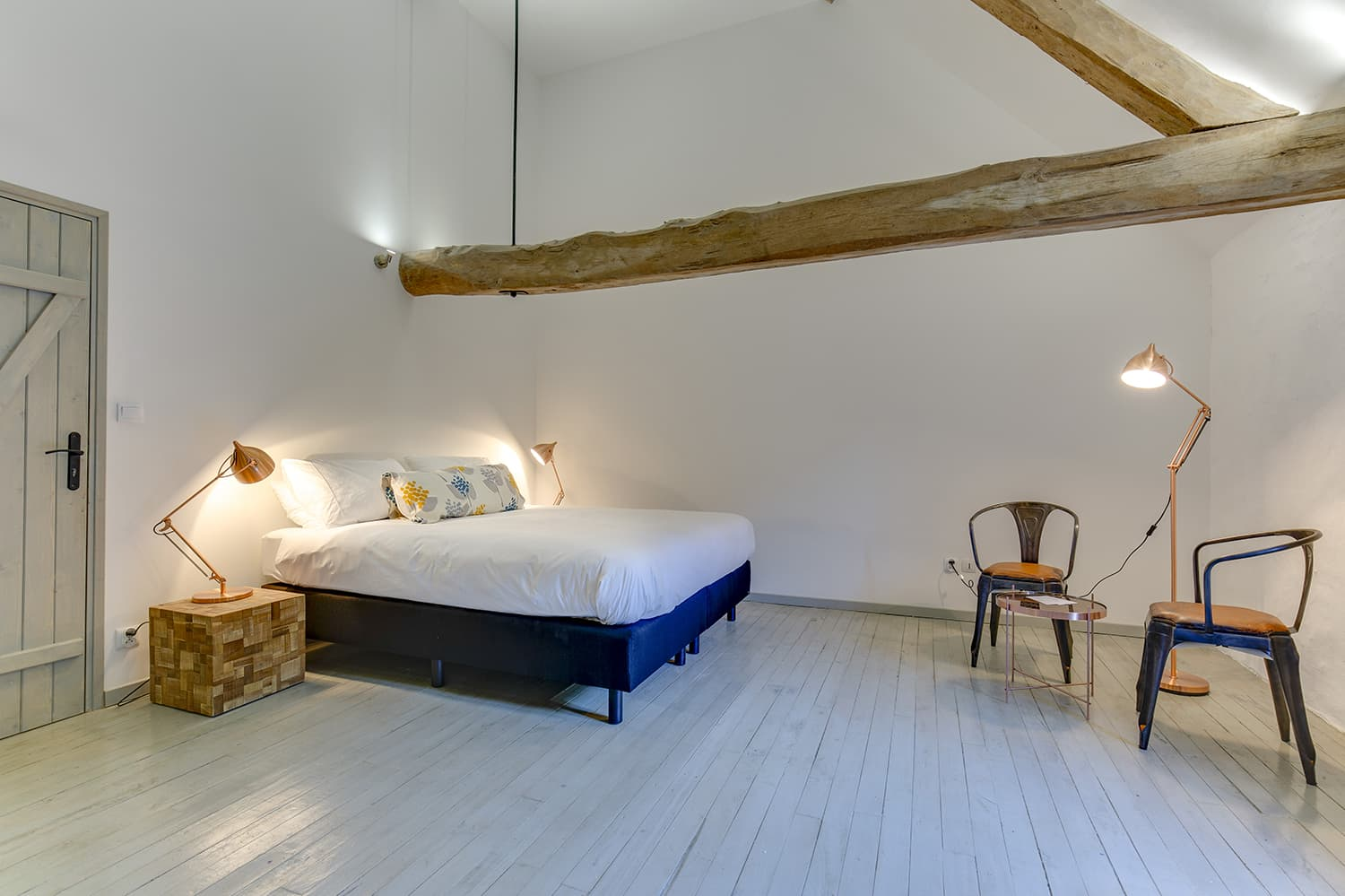 Bedroom in Saint-Avit-Sénieur holiday accommodation