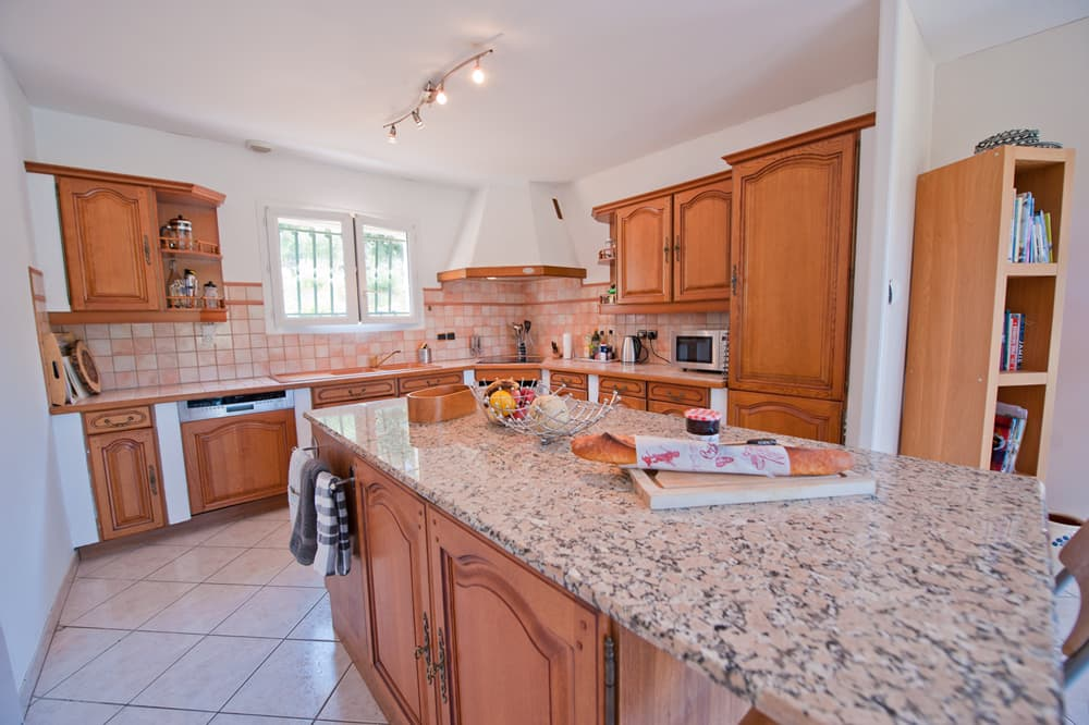 Kitchen in holiday villa