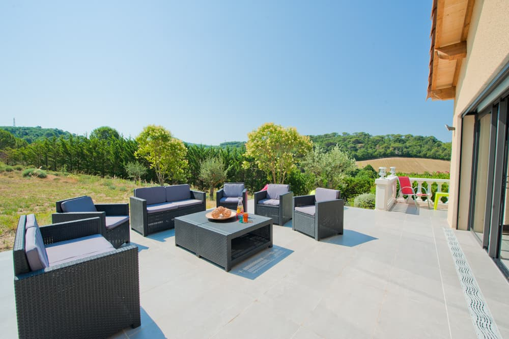 Terrace and countryside views
