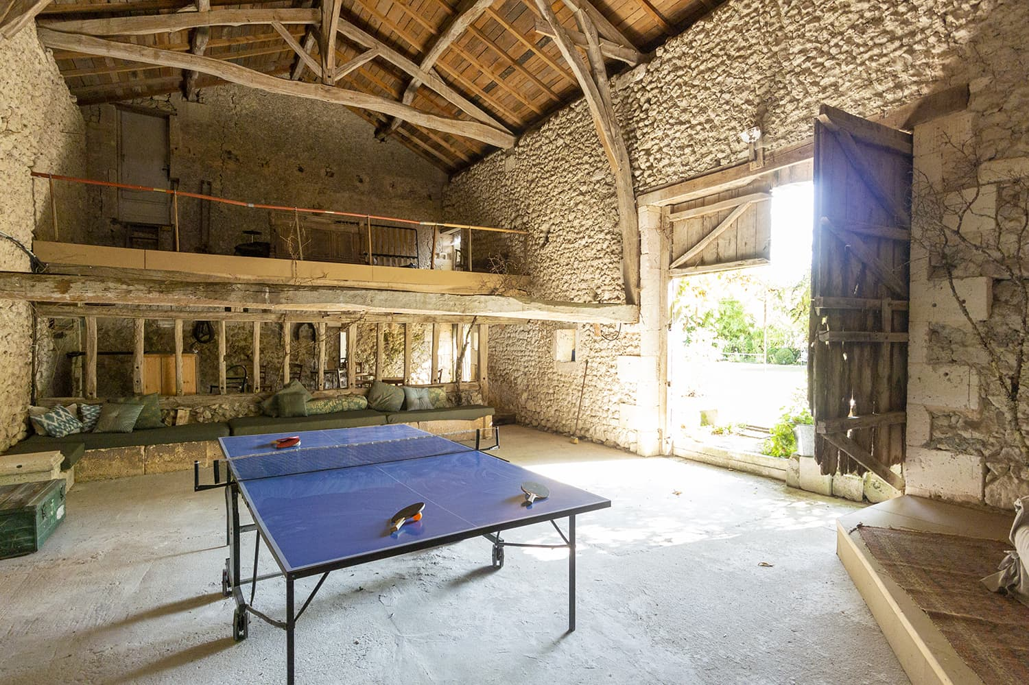 Barn with table tennis