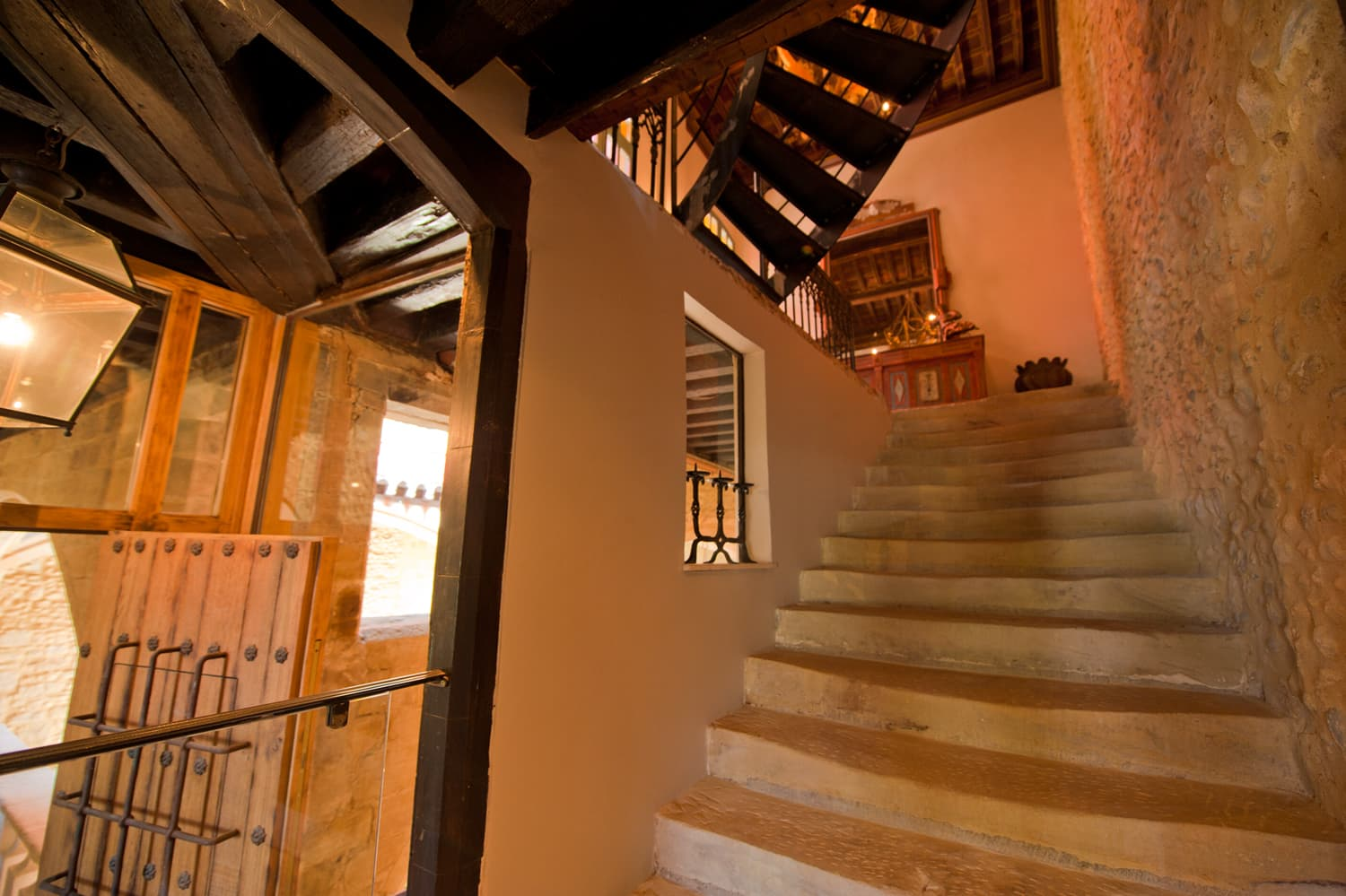 Staircase in Languedoc rental home